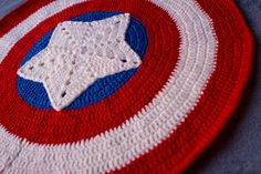 Captain America Baby Blanket - Marvel The Avengers - Made To Order. $100.00, via Etsy. SOMEONE MAKE THIS!!!!!