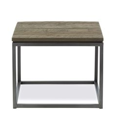 Murray Side Table #WilliamsSonomaHome. Reclaimed American oak and natural steel. Beautiful!