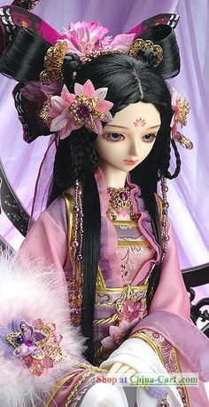 Ancient Chinese Butterfly Princess Costumes and Headpiece Complete Set