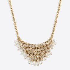 Shop Women's Jewelry at J.Crew Factory and find everyday deals on Women's Earrings, Bracelets, and Necklaces. J Crew Necklace, Bib Necklaces, Gold Necklace, J Crew Jewelry, Jewelry Accessories, Bling, Pearls, My Style, Diamond