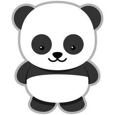 Dibujos Oso Panda con Corazon  PANDITAS HERMOSOS  Pinterest