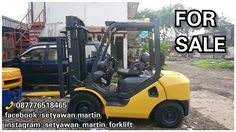 [ FOR SALE ] Forklift Komatsu 3 Ton, FD30C-17, Manual, Lifting Height 3 M, Diesel Engine 4D94LE,📞 087776518465.