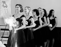 These black, Zac Posen bridesmaid dresses were a great accessory to his Rock-n-Roll wedding! 🤘👗 All girls had matching necklaces gifted to them as well! 💎 . . . Photo: @aureliadamorephotography Planner: @delmarevents Florist: @ebfloraldesign  Bridesmaid's Dresses: @zaczacposen Jewelry: @alexandermcqueen  Band: @westcoastmusicbevhills  Makeup & Hair: @fiorebeauty Published: @modernjewishweddingblog . . #fivestarwedding #rocknrollwedding #delmarevents #Jewishwedding #mazeltov…