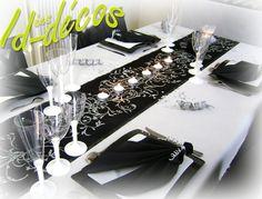 décoration de table mariage noir et blanc