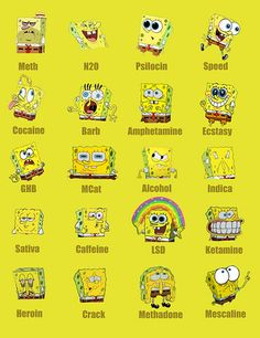 Love Sponge Bob..just not all the drugs..why they used him in the advertising beats me...