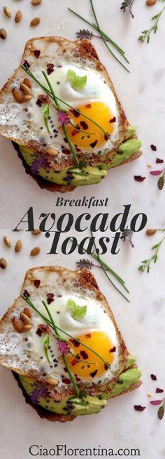 Breakfast Avocado Toast     CiaoFlorentina.com @CiaoFlorentina