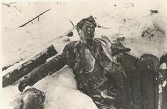 Cuerpos congelados de miembros de la División Azul. 10 de Diciembre de 1941.