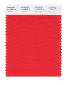 PANTONE 17-1558 Grenadine A powerful, evocative, dynamic red, Grenadine is a confident and self-assured attention-getter.