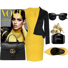 Untitled #120 by jovana-p-com on Polyvore featuring Yves Saint Laurent, Gucci, Marc Jacobs, women's clothing, women's fashion, women, female, woman, misses and juniors
