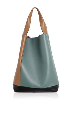 Rasin & Tea Leather Shoulder Bag - Marni Accessories Resort 2016 - Preorder now on Moda Operandi