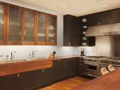 Gourmet Kitchens : Kitchen Remodeling : HGTV Remodels  built in cabinetry - interesting ! I love it !