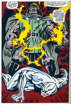 Fantastic Four 57 Doctor Doom Silver Surfer splash page Kirby 1966