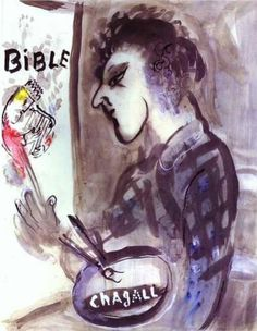 Self Portrait with a Palette - Marc Chagall