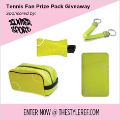 Love #tennis?! Win a tennis fan prize pack from Zumer Sport, all made of authentic tennis ball material! Enter by Wednesday, July 9, 2014 at www.thestyleref.com. #Wimbledon #USOpen #Federer #Nadal #Djokovic #Murray