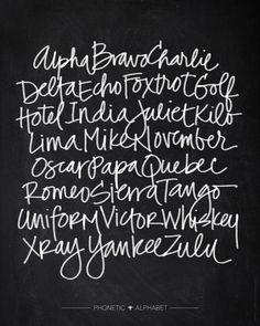 Chalkboard Art - Phonetic Alphabet Art Print by Baron Art Co. | Society6