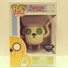 """Ghost of Jake"" - Funko POP Adventure Time Jake Custom by NebbyArt - It glows in the dark. Pop Figures, Vinyl Figures, Adventure Time Toys, Pop Custom, Pop Toys, Pop Characters, Pop Heroes, Pop Collection, Funko Pop Vinyl"
