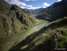 A view of the Snake River  running through the Hells Canyon Wilderness