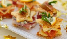 3 New Year's Eve finger food recipes and a lot of tasty inspiration at the beginning of the year - Essen & Rezepte - noels New Years Appetizers, Christmas Appetizers, Appetizers For Party, Appetizer Recipes, Sandwich Recipes, Simple Appetizers, Simple Snacks, Appetizer Ideas, Christmas Sandwiches