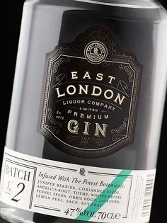 #typography #project #graphicdesign #design #logotype #inspiration #vintage #retro #type  #vodka #winebottle #bottledesign #bottle #labeldesign #label East London Liquor Company on Behance