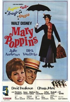 Mary Poppins Movie Poster x 17 Inches - x Argentine Style A -(Julie Andrews)(Dick Van Dyke)(Ed Wynn)(Hermione Baddeley)(David Tomlinson)(Glynis Johns) Mary Poppins 1964, Walt Disney Mary Poppins, Mary Poppins Movie, Old Movie Posters, Classic Movie Posters, Disney Posters, Julie Andrews, Classic Comedies, Classic Movies