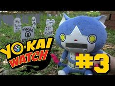 Yokai Watch plush The Living Tombstone. Jibanyan gets swallowed up by a a grave!