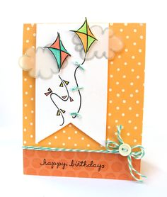 DeNami Polka Dot Birthday Kites card by @Dana Seymour