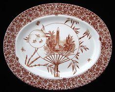 aesthetic movement | Aesthetic Movement Transfer Platter ~ CAIRO 1885