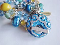 ABS JAN - Bead Submission- Polymer  Clay  Beads and Toggle by Terri G. Monthly Challenge, Polymer Clay Beads, Submission, Bead Art, Abs, Beaded Bracelets, Jewelry, Crunches, Jewlery