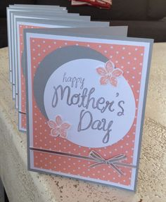 My Mother Stamp set from Stampin' Up. Mother's Day card by A Piece of Work Designs Mom Cards, Fathers Day Cards, Cricut Cards, Stampin Up Cards, Mothers Day Crafts, Happy Mothers Day, Birthday Greetings For Mother, Happy Birthday, Mother Card