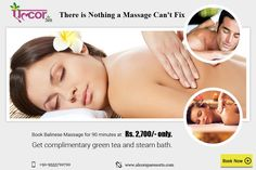 The Balinese Massage is known for its beneficial attributes, which works deeply on the body to soothe damaged tissue, calm strained muscles, relieve pain and de-stress the mind.Book 90 minutes massage session at Rs. 2,700/- only. Visit: http://alcorspa.in/book-appointment/ to book an appointment now.#AlcorSpa #BalineseMassage #BookanAppointment #90Minute