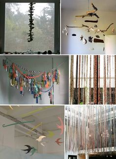 Hanging From Ceiling Fiber Art