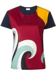 RED VALENTINO colour block printed blouse. #redvalentino #cloth #blouse
