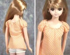 """How to make handmade clothes (bias) """"Papupepo"""" of dress-up doll smock style blouse"""