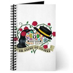 Day Of The Dead Wedding Journal on CafePress.com