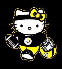 Here we go Steelers Steelers Pics, Here We Go Steelers, Pittsburgh Steelers, Steelers Stuff, Cartoon Movie Characters, Hello Kitty Characters, Hello Kitty Crochet, Hello Kitty Art, Hello Kitty Pictures