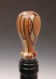 Martha Collins Around the World Turned Wood Bottle Stopper from Rustic Artistry www.maverickstyle.net