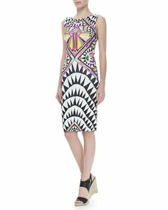 Side-Cutout Fitted Dress by Mara Hoffman at Neiman Marcus.