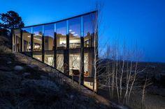 Casa une vidro e vista 360 graus