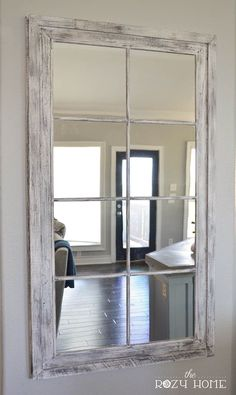 DIY RH French Window Pane Oversized Mirror The Rozy Home
