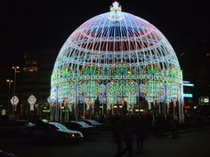30,000 LED Lights Artfully Used To Create Spectacular Dome in The Netherlands.