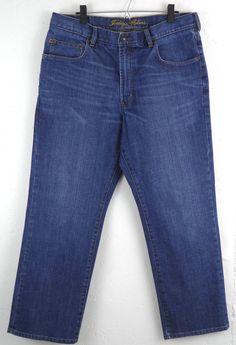 Indigo Palms Tommy Bahama Jeans Classic Fit Mens Size 38 x 30 Cotton Blend #IndigoPalms #ClassicStraightLeg