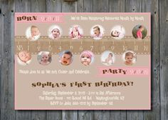 MEASURE A YEAR One Year in a Flash First Birthday Party Event Printable Invitation/One Year Old/Boy/Girl - You Print. $15.00, via Etsy.