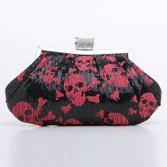 Skull evening bag
