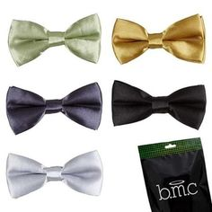 Bundle Monster Stylish 5in1 Adjustable Boys Bow Tie Tuxedo Collection - Set 7