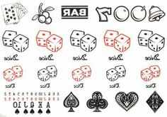 Yimei 2012 Newly Unique Design Tattoo for Women and Men Waterproof (Dices Pokers, Gambling Bells Etc) by YiMei. $3.99. Made and sold by GGSELL--Ship form USA, the only authorized online distributor in the US. Our temporary tattoos are certified by F.D.A, EN71, ASTM, safe and non-toxic. Use parts: Can be used in the skin, metal pottery, glass and other surfaces. Attached to the waist, chest, neck, arms, back, legs, bikini, paste any position you like, you can al...