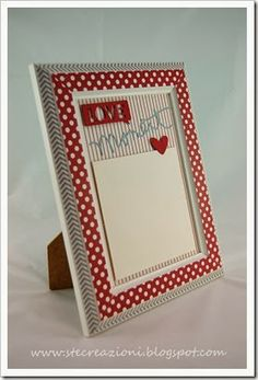 Ikea frame Virserum -- cutely decorated!