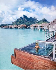 Four Seasons Bora Bora. Photography by @travel_inhershoes...