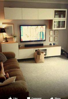 Ikea Besta Living Room in Home, Furniture