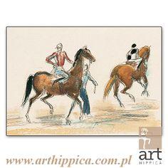 Horse - Painting - Holler Josef | DROGA NA PADOK | A painting by Josef Holler.  Signature: Josef Holler; Technique: watercolor; Dimensions: 38 x 26 cm; Exhibitions: Czech Parliament,                          Millennium gallery – Prague.