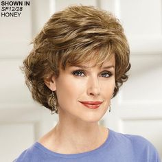 Classic looks never go out of style! Shop our classic wigs department for curly, wavy or straight classic hair wigs that will always be in fashion. Smart Hairstyles, Haircuts For Wavy Hair, Older Women Hairstyles, Curly Hair Cuts, Permed Hairstyles, Bride Hairstyles, Short Hair Cuts, Curly Hair Styles, Short Hair Styles For Round Faces